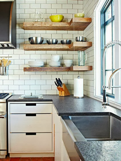 Open shelving should i or shouldnt i designeric for Shelving in kitchen