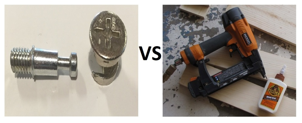 Cabinet Construction Cam Locks Vs Glue Amp Staples