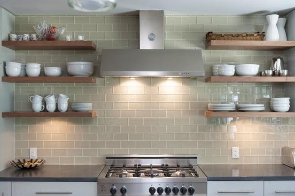 open shelving contemporary-kitchen