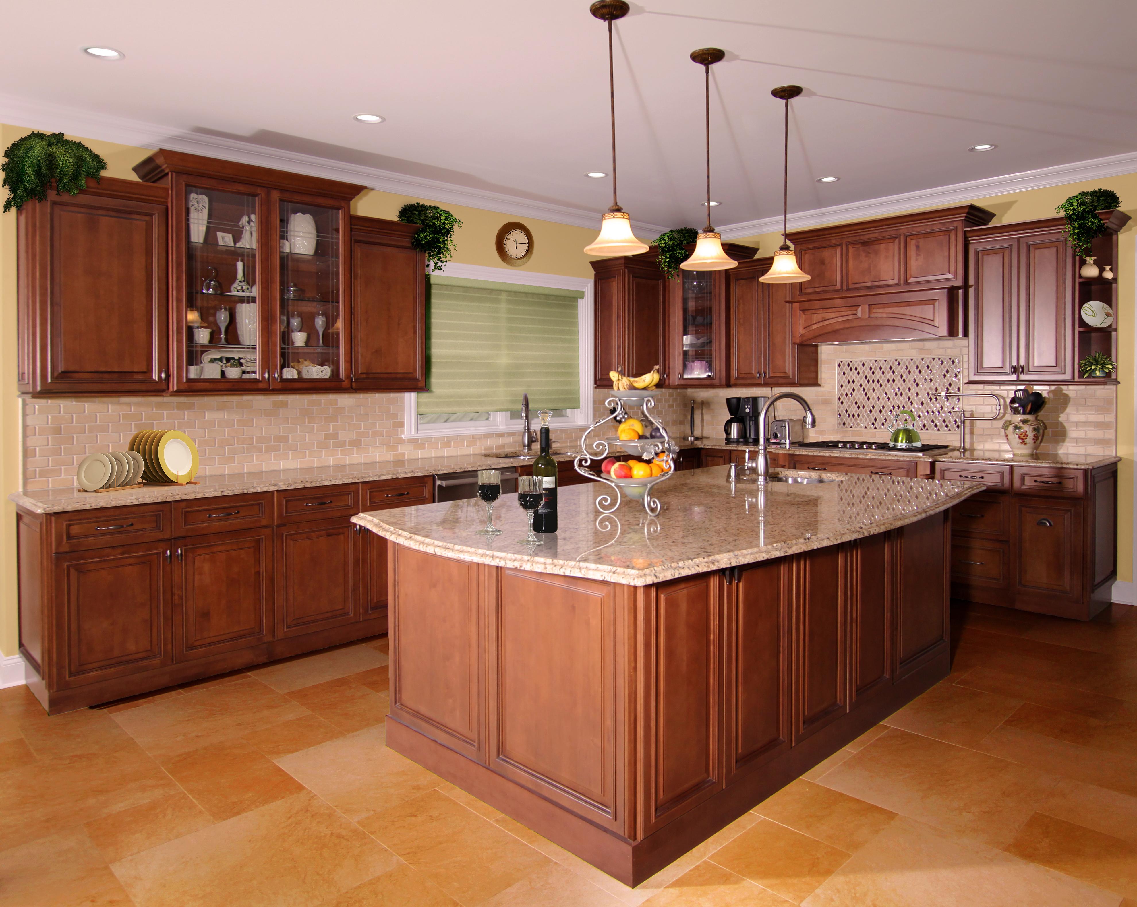 Kitchen cabinets fabuwood allure chestnut yorktowne for Allure kitchen cabinets